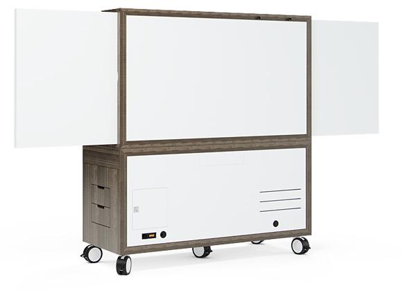 Rear, whiteboard center